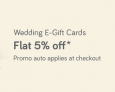 Snapdeal – Wedding E-Gift Cards At Flat 5% Off